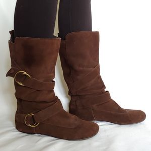 Steve Madden Brown Suede Leather Boots